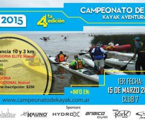 Primera fecha del Campeonato de Kayak Aventura