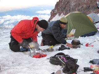 Calentador acampada